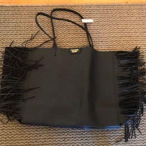 Victoria's Secret leather fringe bag